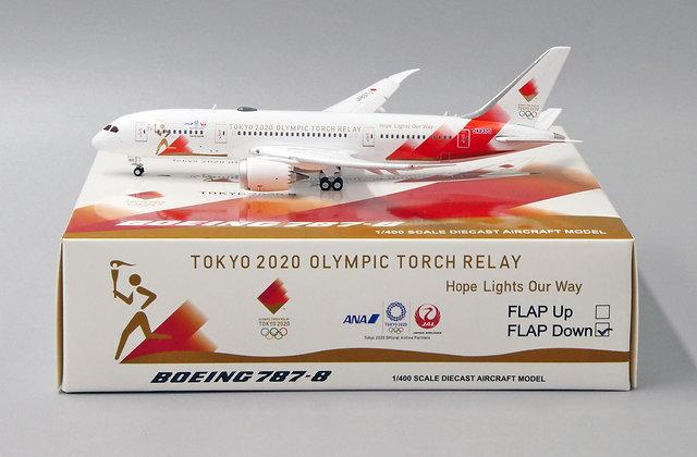 ANA-JAL B787-8 Reg: JA837J EW Wings Scale 1:400 Diecast FLAPS DOWN EW4788003A