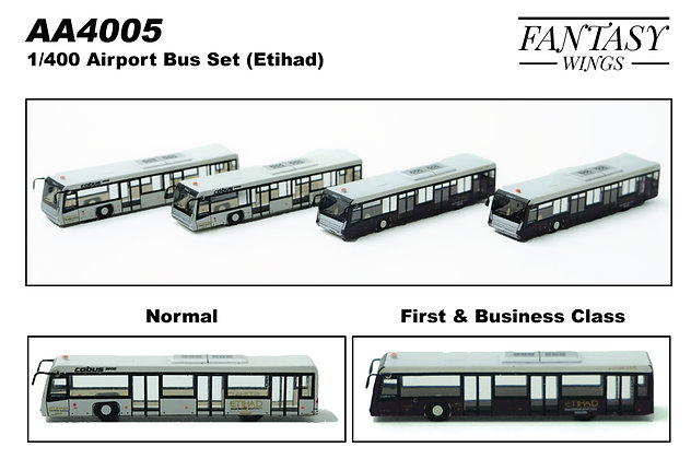 Airport Passenger Cobus3000 Etihad Airways 1/400 (4in1 Set) Fantasywings AA4005