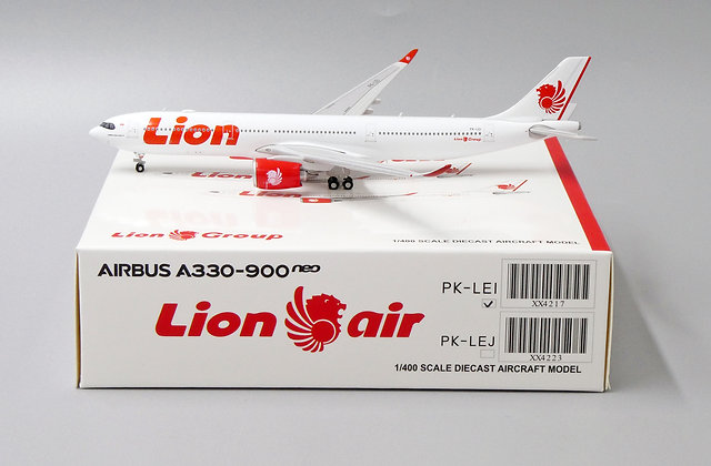 Lion Air A330-900neo Reg: PK-LEI JC Wings Scale 1:400 Diecast Model XX4217