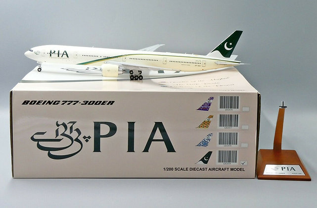 Pakistan International B777-300ER Reg: AP-BID JC Wing 1:200 Diecast Model LH2039