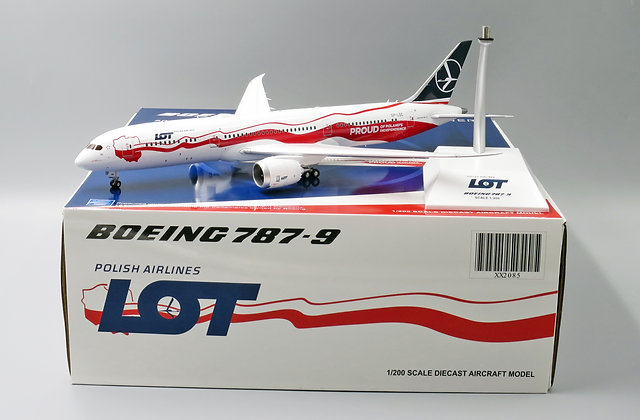 LOT B787-9 Special color Reg: SP-LSC JC Wings Diecast Models Scale 1:200 XX2085