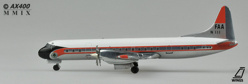 FAA L188 JC Wings Diecast models scale 1:400 JC4063