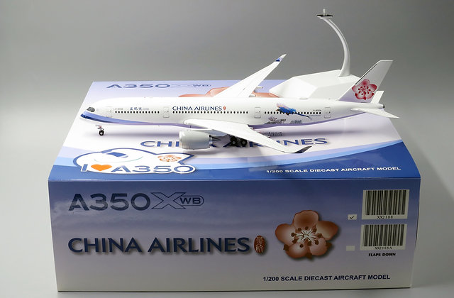 China Airlines A350-900 JC Wings Reg:B-18908 Scale 1:200 Diecast models XX2188