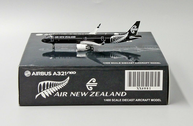 Air New Zealand A321neo Reg: ZK-NNA JC Wings Scale 1:400 Diecast model XX4081