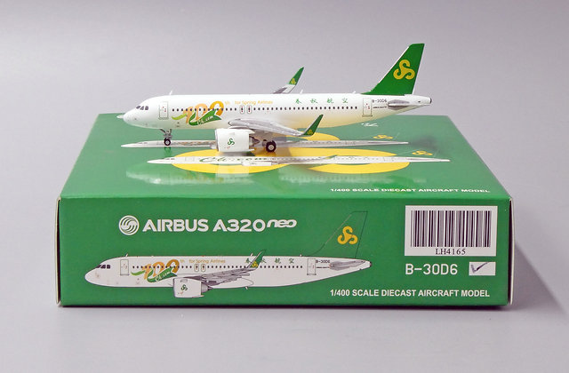 Spring Airlines A320Neo Reg: B-30D6 JC Wings Scale 1:400 Diecast Model LH4165