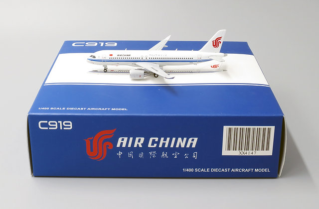 Air China C919 WITH Aircraft tug truck 1:400 JC Wings Diecast XX4147