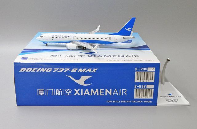 Xiamen Air B737-8MAX Reg: B-1288 JC Wings Diecast models scale 1:200 LH2134
