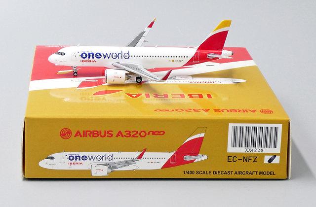 Iberia A320Neo Reg: EC-NFZ JC Wings Scale 1:400 Diecast Model XX4228