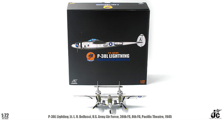 P-38L Lighting Lt.L.V. Bellusci US Army Air Force 36th FS 1/72 JCW-72-P38-001