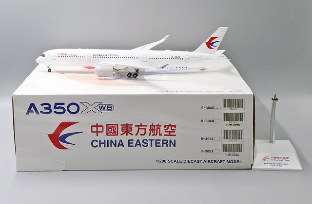 China Eastern A350XWB Reg: B-304D JC Wings Scale 1:200 Diecast model XX2246
