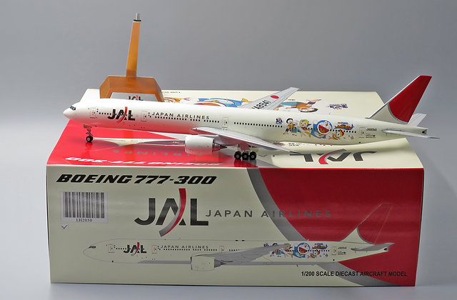 "JAL B777-300 "" Doraemon "" JC Wings 1:200 Diecast Models LH2050"
