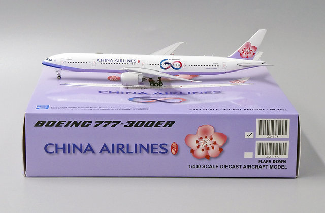 China Airlines B777-300ER Reg: B-18006 JC Wings Scale 1:400 Diecast Model XX4178