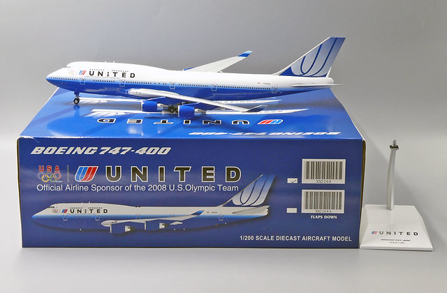 United Airlines B747-400 Reg: N199UA JC Wings Scale 1:200 Diecast model XX2268