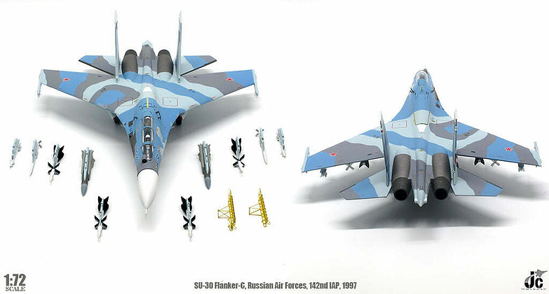 Su-30 Flanker-C, Russian Air Force, 142 IAP, 54 Blue, 1997, 1/72 JCW-72-SU30-008