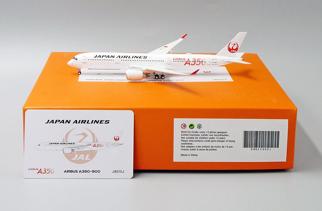 JAL A350-900 Reg: JA01XJ Scale 1:400 Diecast Model EW4359001