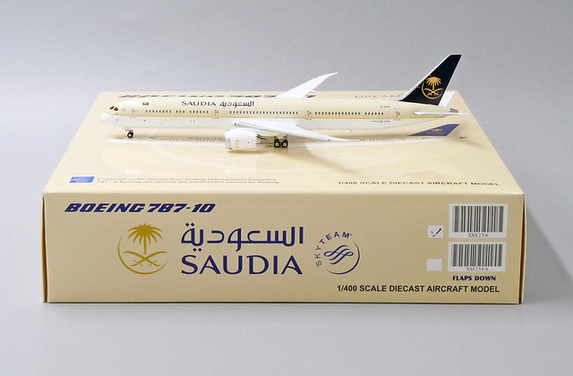 Saudi Arabian Airlines B787-10 Reg: HZ-AR24 JC Wings Scale 1:400 Diecast XX4256