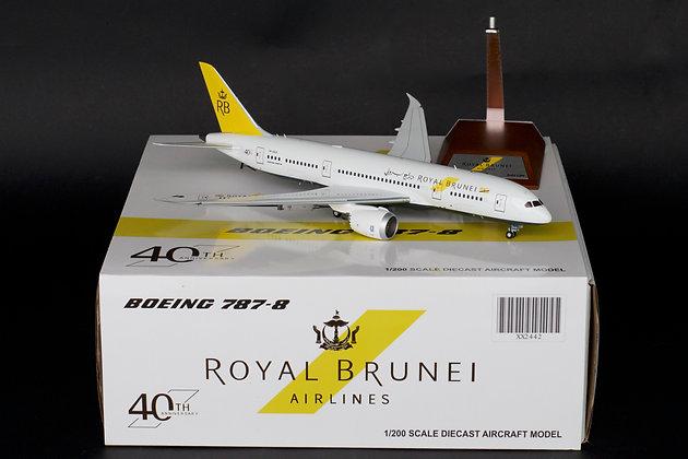 Royal Brunei B787-8 Dreamliner Reg:V8-DLD JC Wings 1:200 Diecast Models XX2442