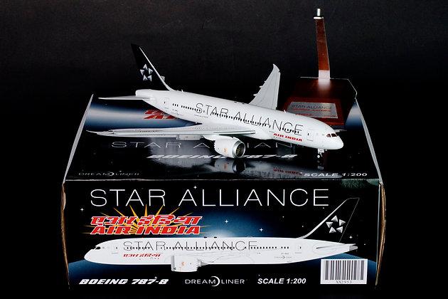 "Air India Boeing 787-8 ""Star Alliance"" JC Wings 1:200 Diecast XX2953"