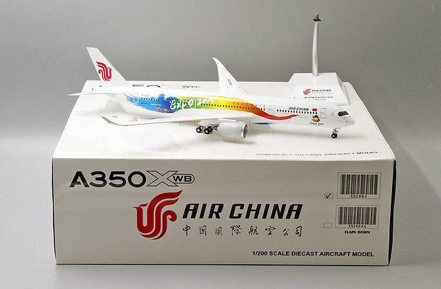 Air China A350-900 Beijing Expo2019 Reg:B-1083 JC Wings 1:200 Diecast XX2084