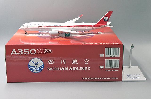 SICHUAN Airlines A350XWB Reg: B-304U JC Wings Flaps Down 1:200 Diecast XX2262A