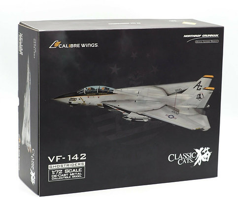 US Navy F-14A VF-142 Ghostriders Calibre Wings Scale1:72 Diecast CA721407