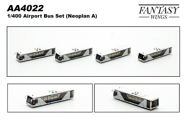 Airport Bus Set (Neoplan A) Scale 1/400 (Set of 4) Fantasywings AA4022