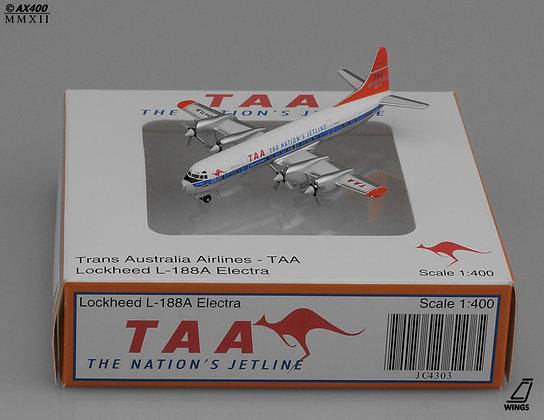 Trans Australia Airlines - TAA L188 Orange Tail 1:400 die-cast models JC4303