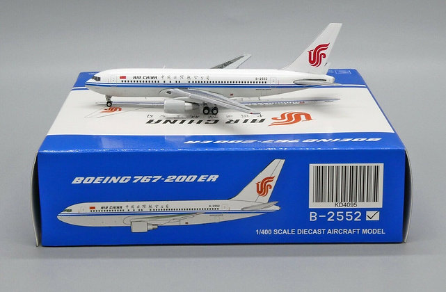 Air China B767-200ER Reg: B-2552 JC Wings 1:400 Diecast Model KD4095