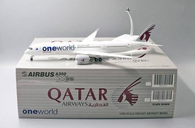 Qatar A350-900 One World A7-ALZ FLAPS DOWN Scale 1:200 JC Wings Diecast XX2050A