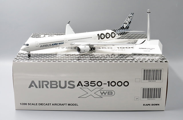 Air Bus House Color A350-1000 F-WLXV FLAPS DOWN JC Wing 1:200 Diecast XX2048A