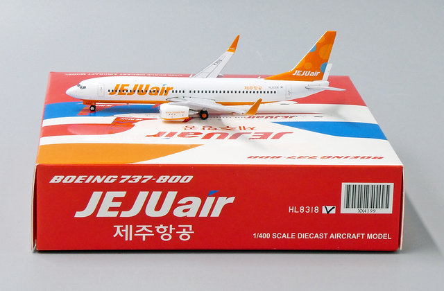 Jeju Air B737-800 Reg: HL8318 JC Wings Scale 1:400 Diecast Model XX4199