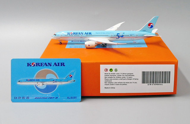 Korean Air B787-9 Reg: HL8081 JC Wings Scale 1:400 Diecast FLAPS DOWN EW4789004A