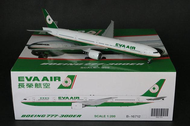 """Eva Air Boeing 777-300ER """"OC"""" Reg B-16707 JC Wings 1:200 Diecast Models XX2782"""
