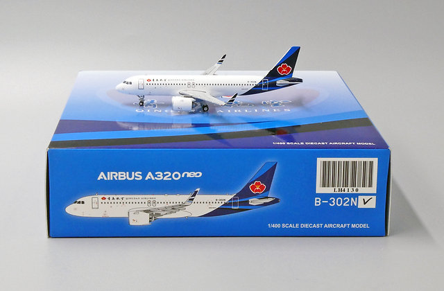QingDao Airlines Airbus A320neo Reg: B-302N 1:400 JC Wings Diecast Model LH4130