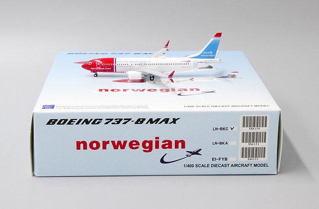 Norwegian B737-8MAX Reg: LN-BKC JC Wings 1:400 Diecast Models XX4150