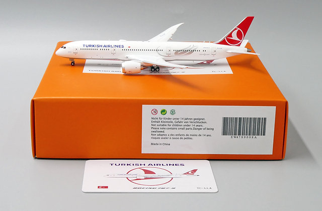 Turkish Airlines B787-9 Reg: TC-LLA Flaps Down 1:400 Diecast EW4789008A