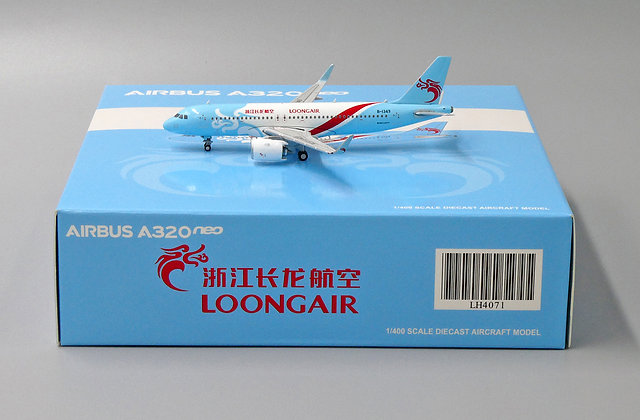 Loong Air A320NEO B-1349 With Aircraft tug truck JC Wings 1:400 LH4071