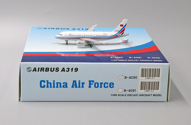China Air Force A319 Reg: B-4090 JC Wings 1:400 Diecast Model LH4121