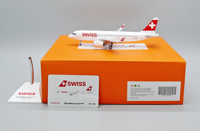 Swiss A320neo Reg: HB-JDB EW Wings Scale 1:200 Diecast Model EW232N002