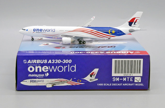 Malaysia Airlines A330-300 Reg: 9M-MTE JC Wings Scale 1:400 Diecast model XX4481