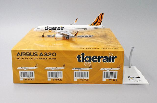 Tigerair A320 Reg: 9V-TRX JC Wings Scale 1:200 Diecast Model XX2244