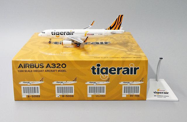 Tigerair Taiwan A320 Reg:B-50016 JC Wings Scale 1:200 Diecast Models XX2224