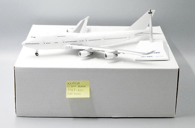 "Blank B747-400 "" Flap Down "" PW Engine JC Wing Scale 1:200 Diecast Model XX2952A"