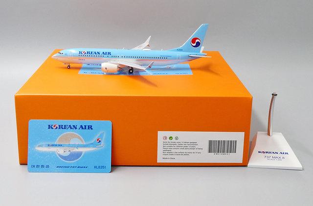 Korean Air B737-8 MAX Reg: HL8351 JC Wings Diecast Models Scale 1:200 EW238M001