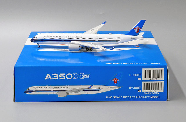 China Southern A350 XWB Reg: B-308T JC Wings 1:400 Flaps Down Diecast XX4173A