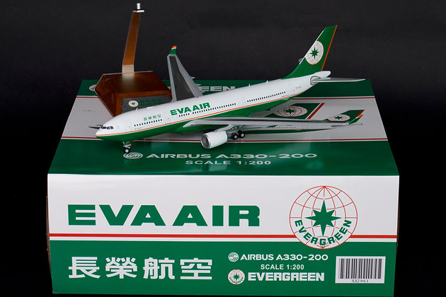 Eva Air Airbus A330-200 Reg: B-16307 JC Wings 1:200 Diecast Models XX2961