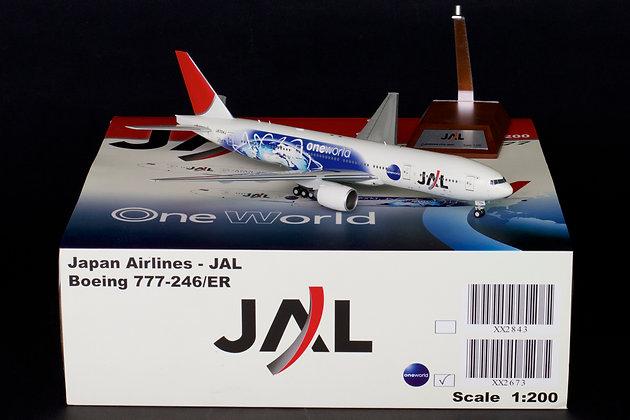 "JAL Boeing 777-200 Reg: JA704J ""One World"" JC Wings 1:200 Diecast Models XX2673"