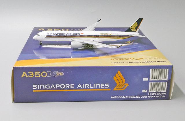"Singapore A350-900 ""10000th"" Flaps Down Version JC Wings 1:400 Diecast XX4857A"