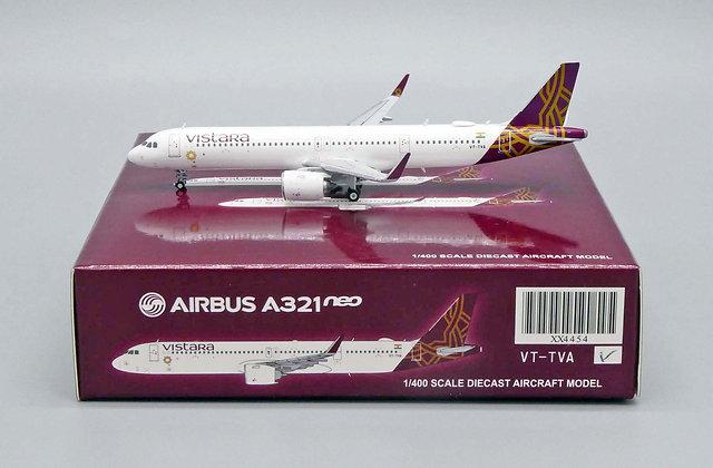 Vistara A321neo Reg: VT-TVA Scale 1:400 JC Wings Diecast Model XX4454