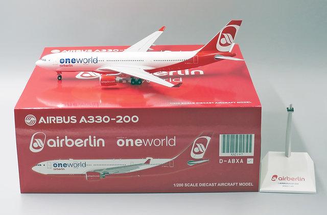 Air Berlin A330-200 One World Livery Reg: D-ABXA JC Wings 1:200 Diecast XX2197